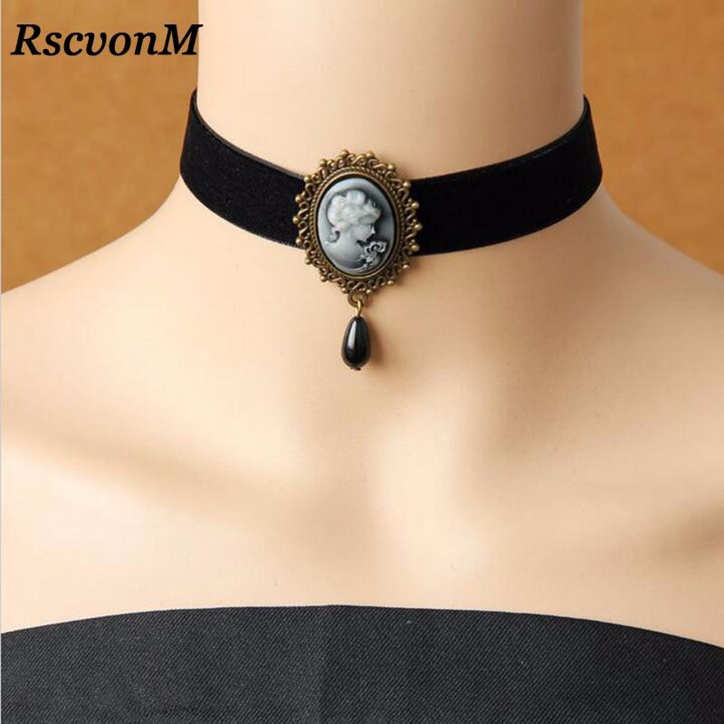 RscvonM Gothic Jewelry Vintage Lace Necklaces & Pendants