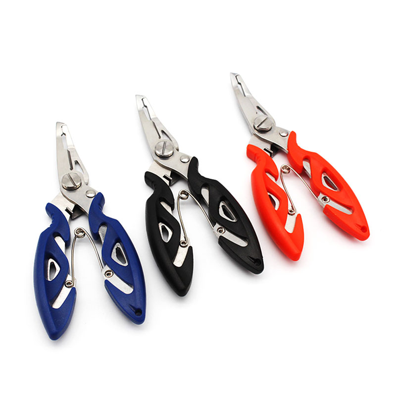 Stainless Steel Fishing Pliers With Package 3 Colors Scissors Line Cutter Remove Hook Fishing Tackle Tool Accessories Hook Clamp penggong fish controller fishing grip stainless steel fishing pliers fish hook remover line cutter multitool tool set
