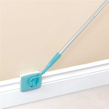 360 Degree Swivel action Head Brush Baseboard Extendable Microfiber Duster Buddy Home Kitchen Multi Use Clean