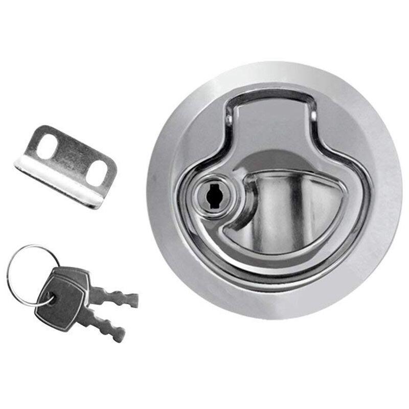 Zinc alloy floor lifter inlet handle for boat deck hatch lifter door lock (piece / set selectable) - 1 piece