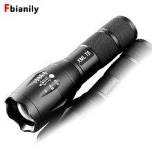 Lanterna led portátil com zoom, para 18650 ou 3xaaa, 8000lm, e17, cree xm l, t6, 5 modos de luz sem bateria