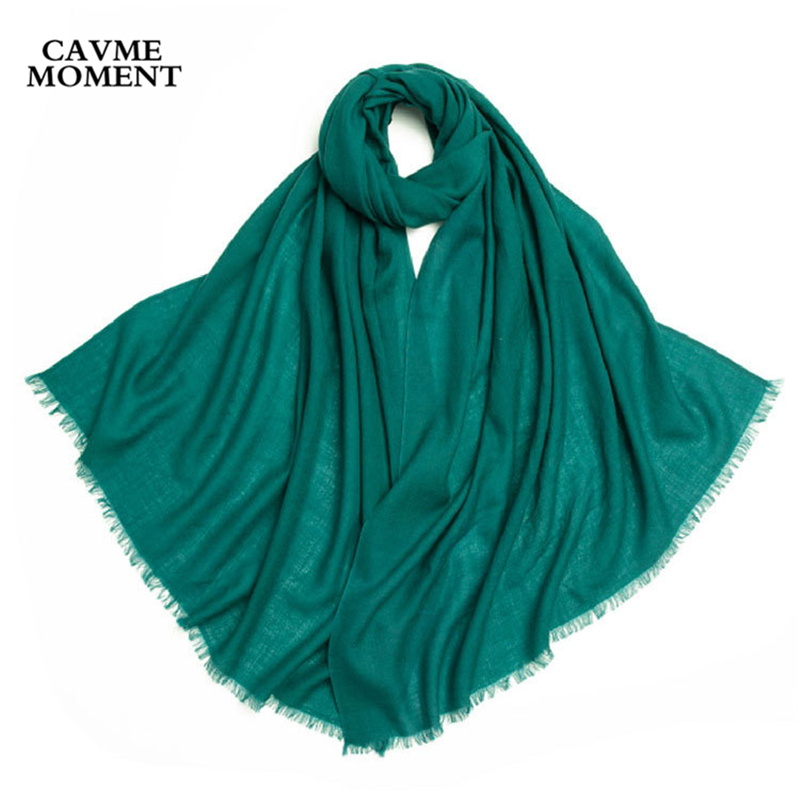 CAVME 2019 Spring 100% Largue Wool   Scarf   for Women Solid Basic Long   Scarves     Wraps     Wrap   110g 70*200cm CUSTOM Letters