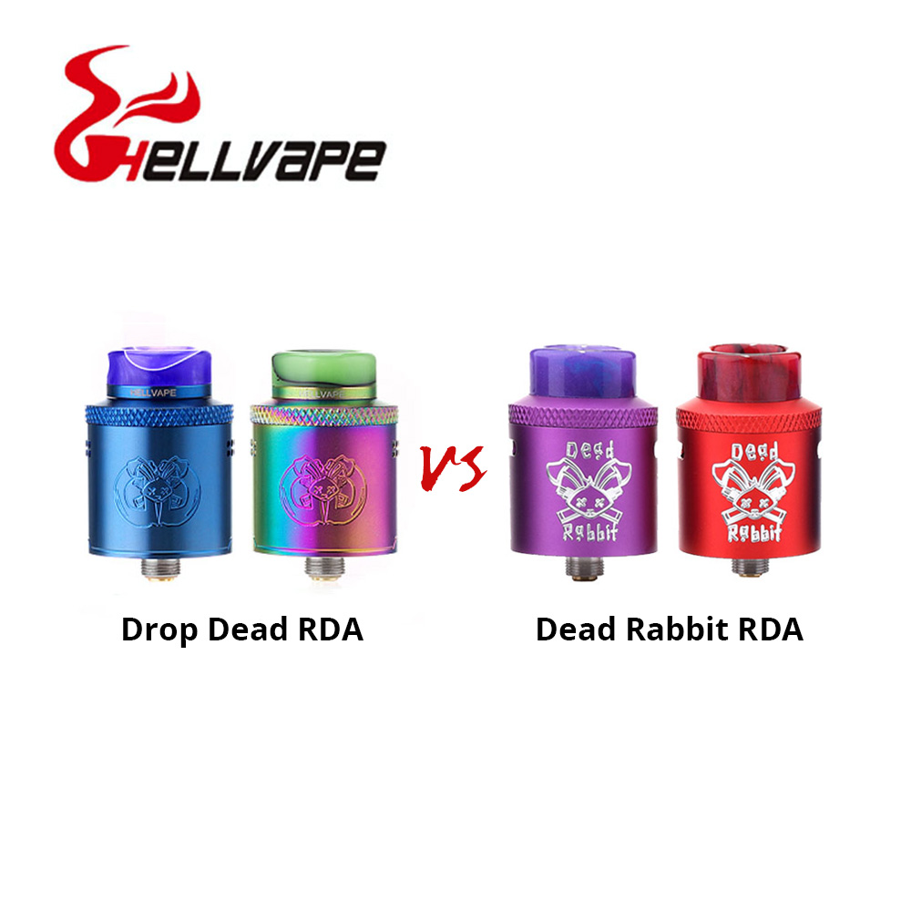 все цены на Hot Sale Hellvape Dead Rabbit RDA VS Hellvape Drop Dead RDA 24mm Diameter for Builders & Squonkers Alike Users Vape Tank RDA