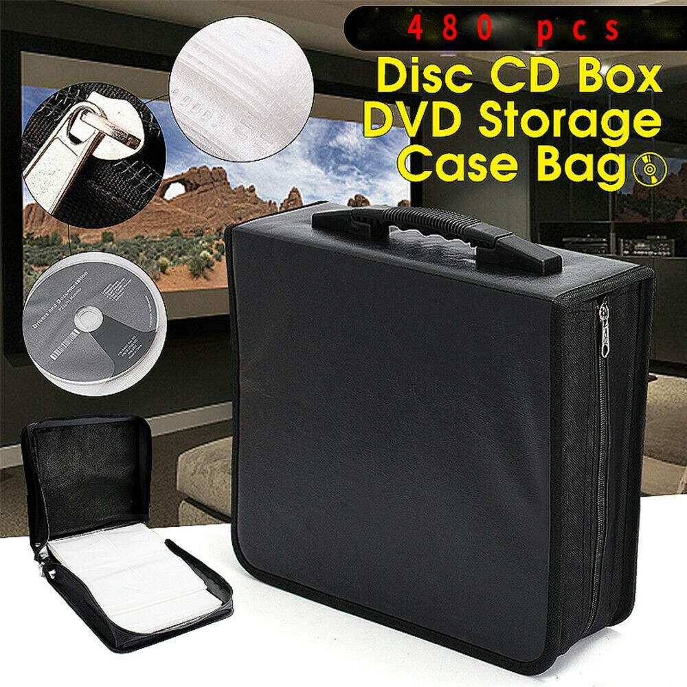 480 disque PU boîte en cuir Portable CD DVD organisateur portefeuille étui résistant à l'eau portable grande capacité recueillir stockage CD sac