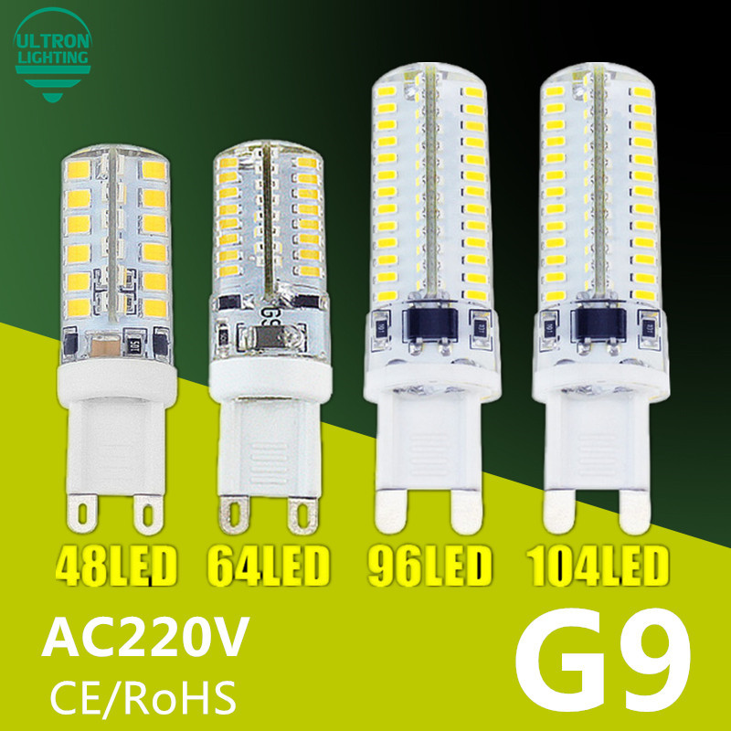 G9 LED Lamp 7W 9W 10W 11W Corn Bulb AC 220V SMD 2835 3014 48 64 96 104leds Lampada LED light 360 degrees Replace Halogen Lamp e14 3w 64 x smd 3014 led 170lm 6000k white light led corn bulb ac 90 240v