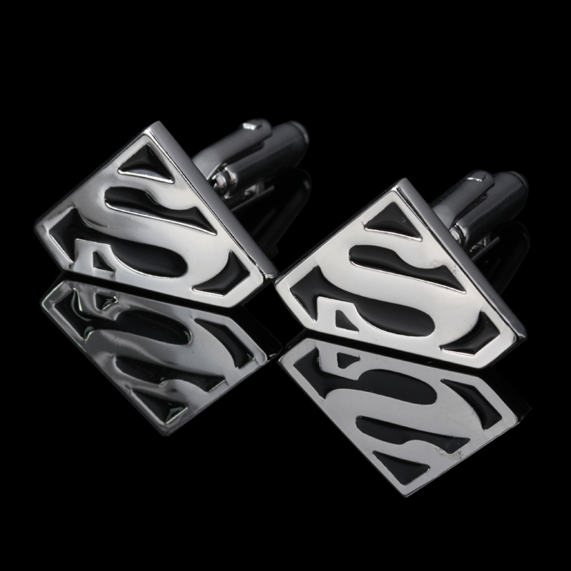 WN Star Wars Empire Cufflinks Galactic Empire Superman Mask Shirt Cuff Button Cuff Links Silver Plated Jewelry Brand