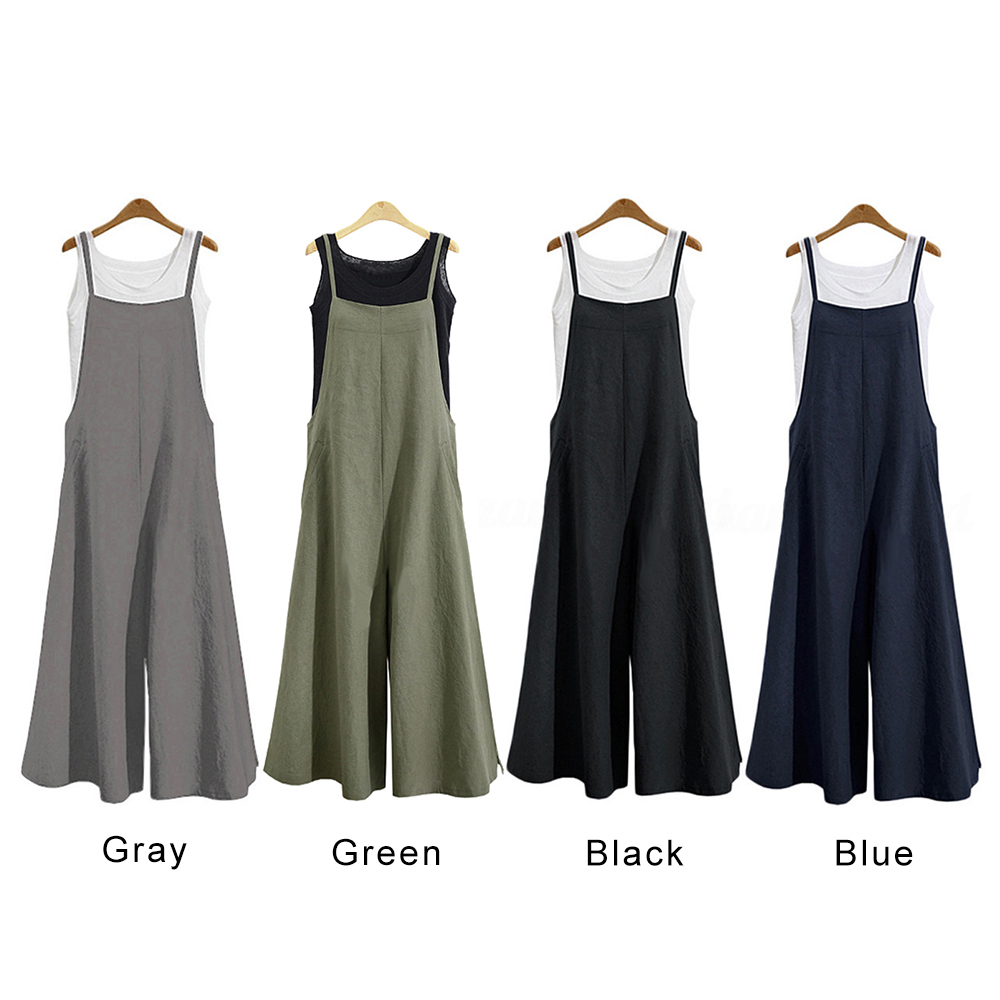 Jumpsuits For Women Fashion Womens Rompers Party Clubwear Playsuit Jumpsuit Wide Leg Long Trousers Pants in Jumpsuits from Women 39 s Clothing