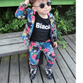 Children 's Floral Suit Set unisex Autumn models children' s clothing baby cotton long - sleeved children two  piece set