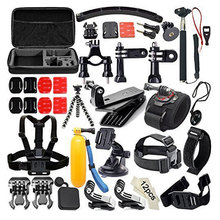 50-in-1 Sports Action Camera Gopro Accessories Kit for Gopro HERO 3+4 SJ4000 Waterproof Video Camera with Carrying Case