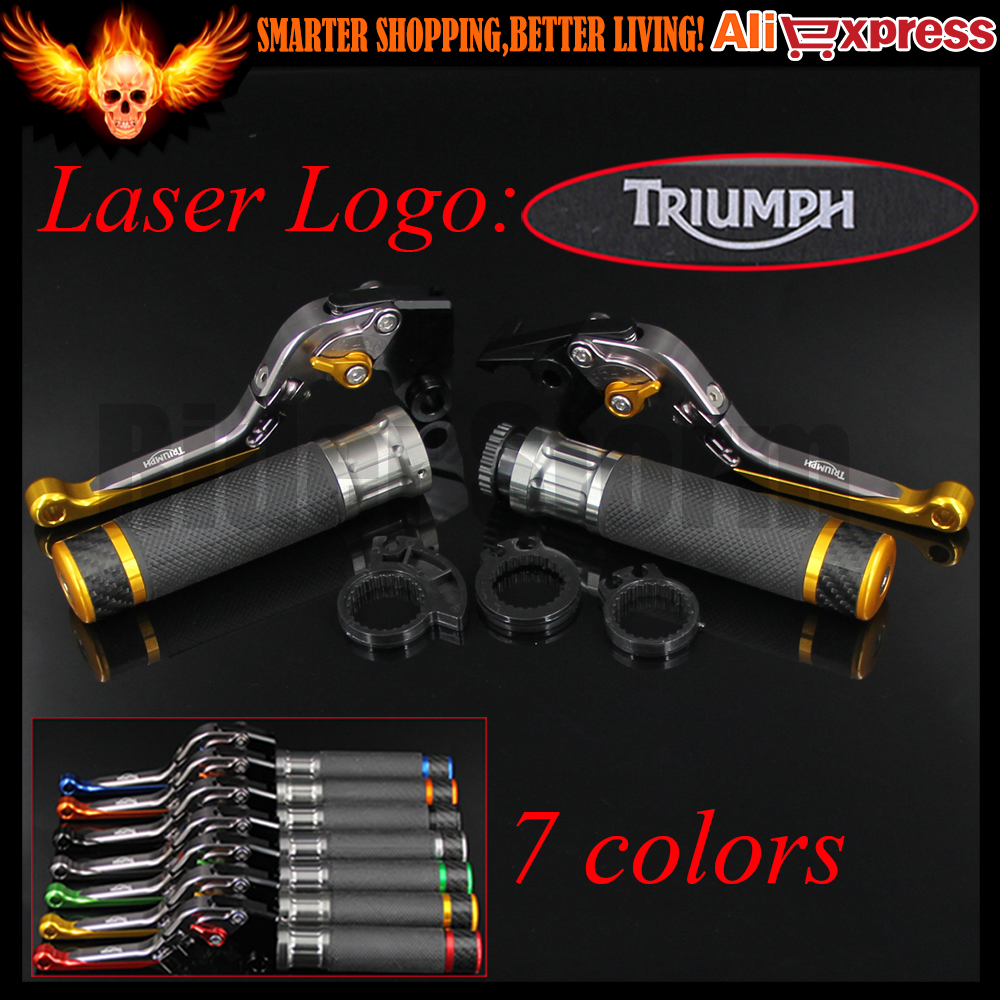 ФОТО 7 Colors Gold+Titanium CNC Motorcycle Brake Clutch Levers&Handlebar Hand Grips For Triumph SPRINT GT 2011 2012 2013 2014 2015