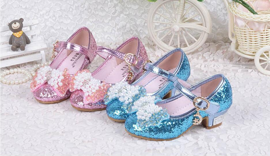 Girls Princess Single Sandals Heels Snow Queen Colors Glass Slipper Shoes  From 3 To 12 Years Old Girl The New Quality. aeProduct.getSubject()  aeProduct. 9d54960a2e9d