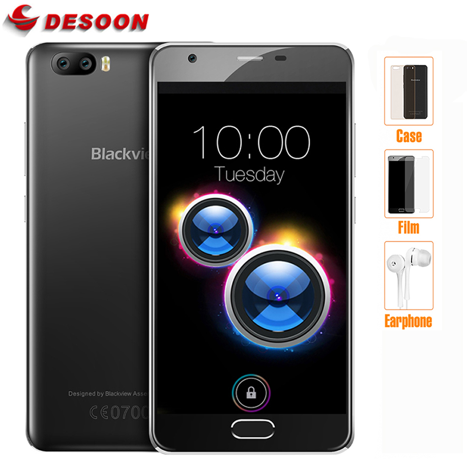 "Dual Cameras 5.0 ""HD Blackview A9 PRO Smartphone 4G Android 7.0 2 GB 16 GB Mobile"