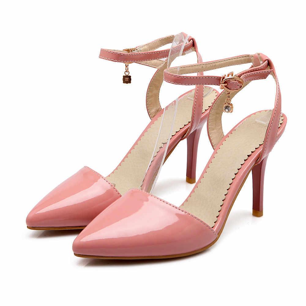 ASUMER 2020 אביב סתיו חדש אופנה משאבות נעלי אישה הבוהן מחודדת אבזם אלגנטי חתונה נעלי נשים גבוהה עקבים נעליים