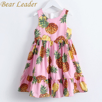 Bear Leader Girls Dress 2017 New Girls Clothes European And American Style Pineapple Print Sleeveless Girls