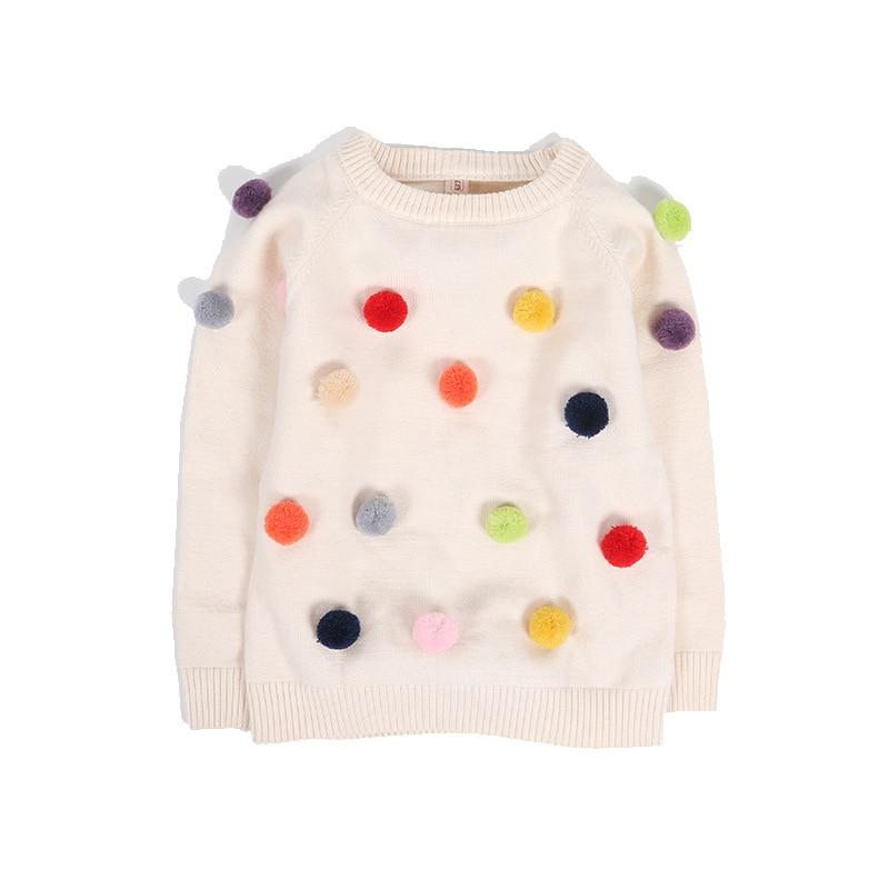 new brand children sweaters winter plush ball cotton