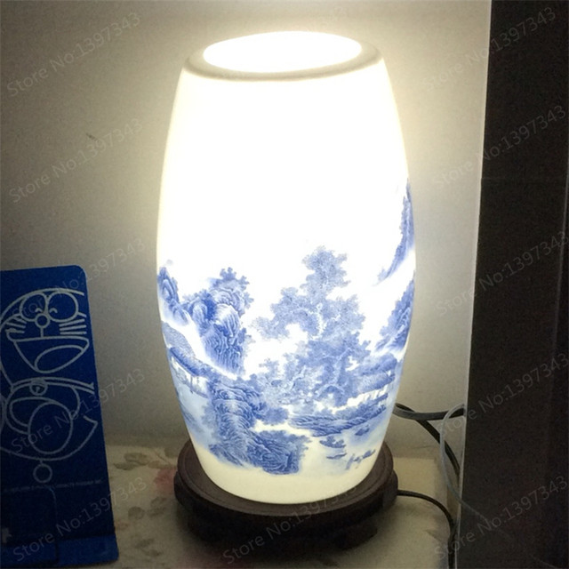 Online Shop Modern Chinese Porcelain Table Lamps Fashion Bedroom ...