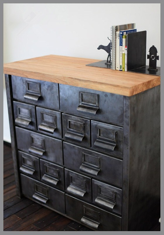 American Industrial Metal Cargo Retro Corner Cabinet Cupboard Iron Drawers Sideboard Lockers In Bar Chairs From Furniture On Aliexpress