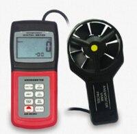 Анемометр Поток воздуха Скорость Температура метр AM4836V Термометры w/Программы для компьютера