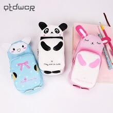 Stationery Storage-Bag Pencil-Case Kawaii Cat Gift Zipper Children Panda New Waterproof