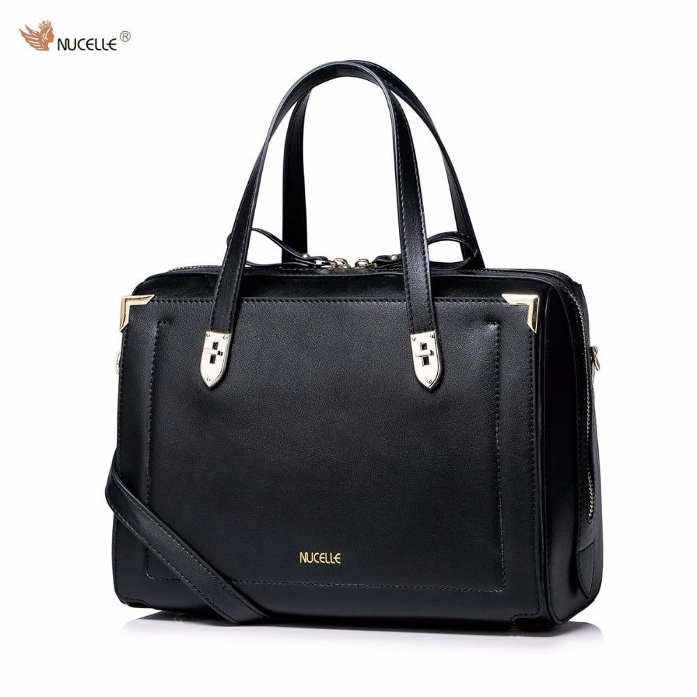 NUCELLE Brand New Design Women's Fashion Casual Cow Leather Girls Ladies  Shoulder Crossbody Boston Bags Handbag