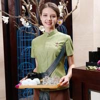 New Brand Design Thai Massage Uniform Sets 2017 Summer Short Sleeve Thailand Restaurant Waitress Work Clothes