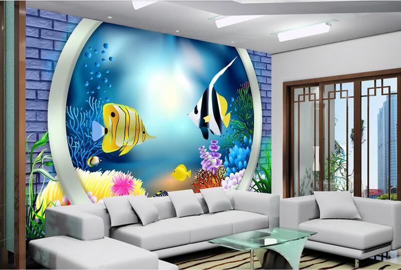 ᗕ3d kamer behang custom muurschildering non woven muursticker 3 d