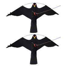2x #2 Large Hawk Kite Scarecrow Decoy Bird Scarer Deterrent Protect Farmers Crops Outdoor Kids Toys Black Kites Windsock(China)