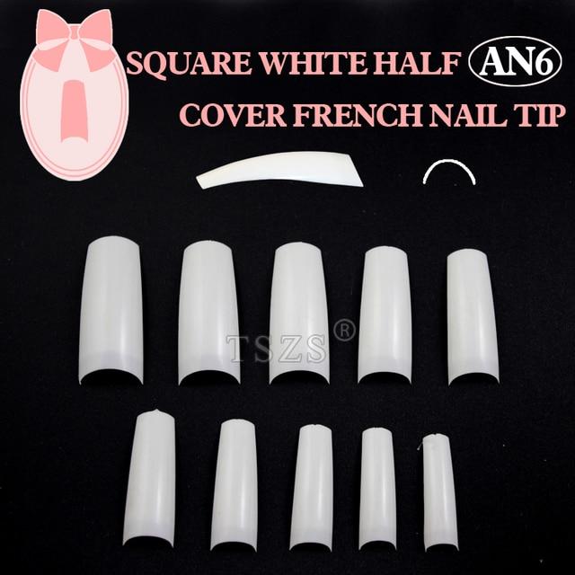 1bags/ lot -500pcs in a bag White  french false nail tips