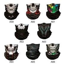 Волшебная маска на Хэллоуин с 3D черепом для мужчин, цифровая печать, солнцезащитный шарф, маски для мужчин и женщин YF3