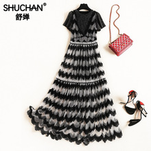 купить Shuchan Fashionable Sets for Women Summer Suit Female Women Clothing Set for Summer Dress+long Mesh Dress Leisure Suits 51581 по цене 4481.27 рублей