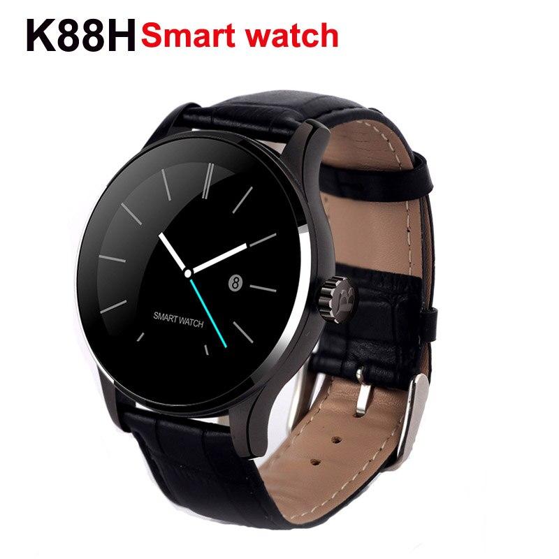 Nueva moda k88h smart watch ips apoyo de pantalla redonda huawei pulsómetro blue