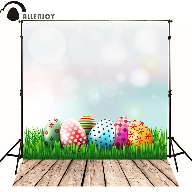 Allenjoy photography backdrops Easter Egg Easter Egg lawn kids photo backdrops for sale professional fabric computer printing