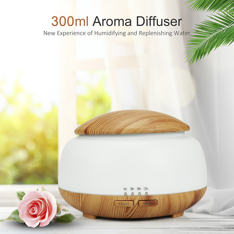 DEKAXI 300ml  Essential Oil Diffuser Air Humidifier Aromatherapy Electric Aroma Diffuser Mist Maker with Night Light for Home