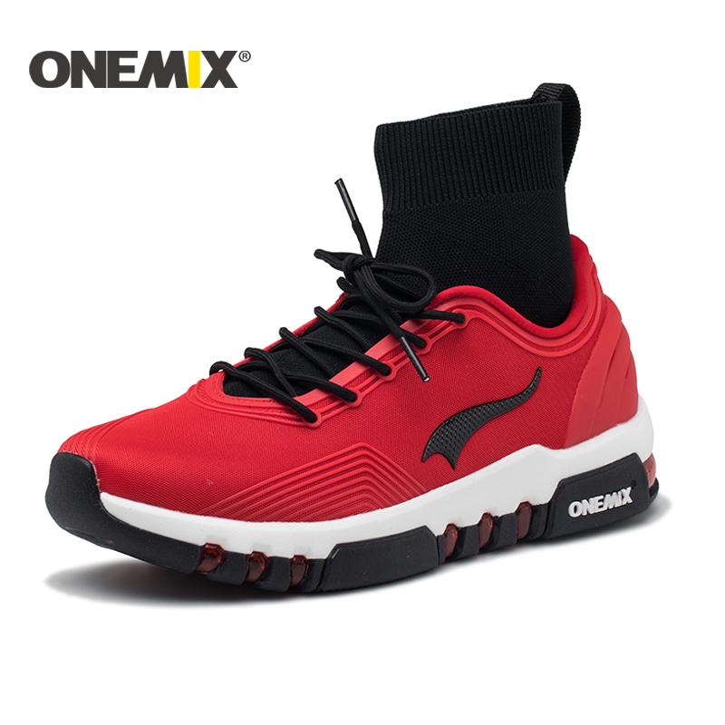 Onemix running shoes for men high top sneakers Couple outdoor walking boots Multifunction trekking sneaker women Free shipping onemix 2016 men s running shoes breathable weaving walking shoes outdoor candy color lazy womens shoes free shipping 1101