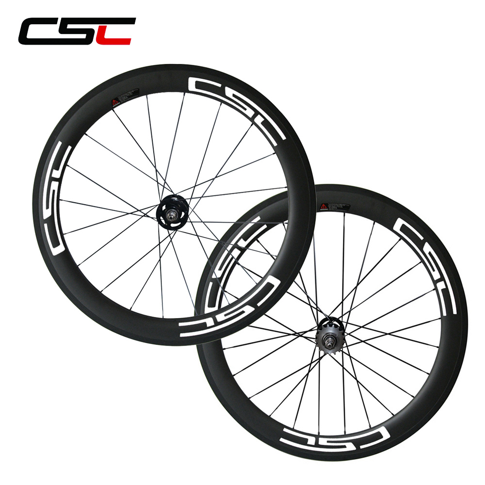 700C full carbon fixed gear bicycle wheelset 60mm 23mm Clincher carbon Track bike wheels with pillar