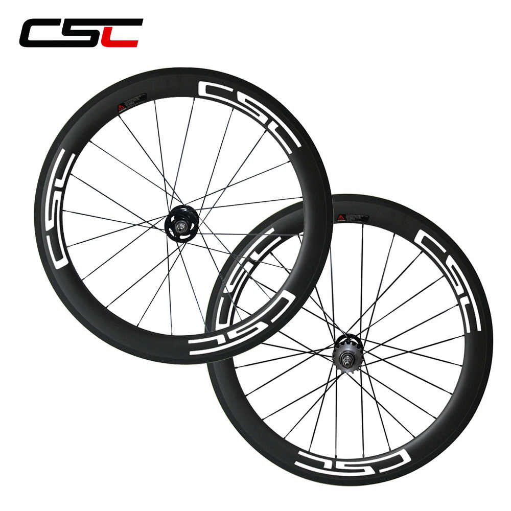 700C full carbon fixed gear bicycle wheelset 60mm 23mm Clincher carbon Track bike wheels with pillar 1420 or sapim spokes