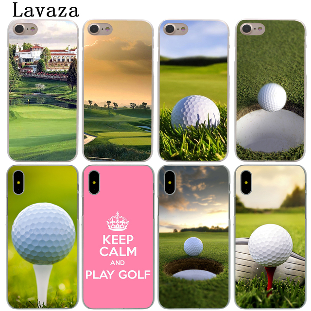factory authentic abb92 48da5 US $2.55 |Lavaza Golf Sports Hard Phone Shell Case for Apple iPhone XS Max  XR X 6 6S 7 8 Plus 5 5S SE 5C 4S 10 Cover Cases-in Half-wrapped Case from  ...