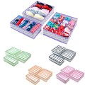 3Pcs/Set Polka Dot Foldable Nonwoven Storage Box Container Drawer Divider Closet Boxes For Ties Socks Bra Underwear Organizer