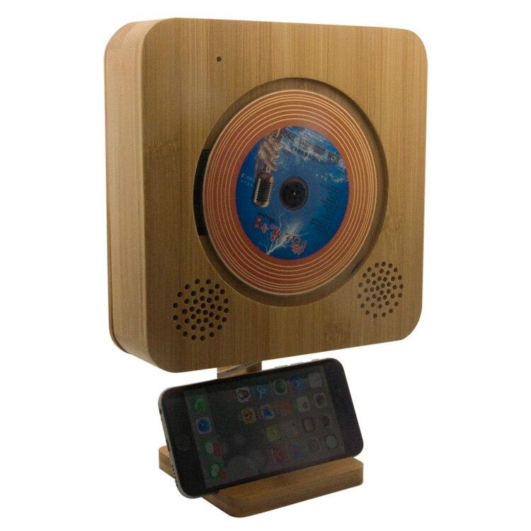 Lecteur CD à clé tactile en bambou