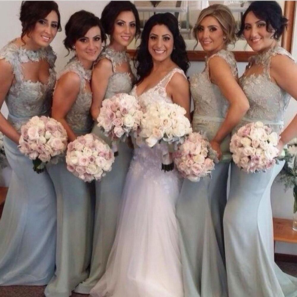 Silver chiffon lace bridesmaid dressesbridesmaid dressesdressesss silver chiffon lace bridesmaid dresses ombrellifo Images