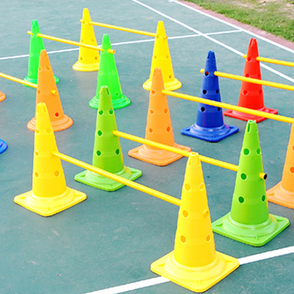 5 Pcs Football Barrier Outdoor Eco-friendly Training Cones Durable Rugby Portable Roadblock Skating Sport Marker Multicolor