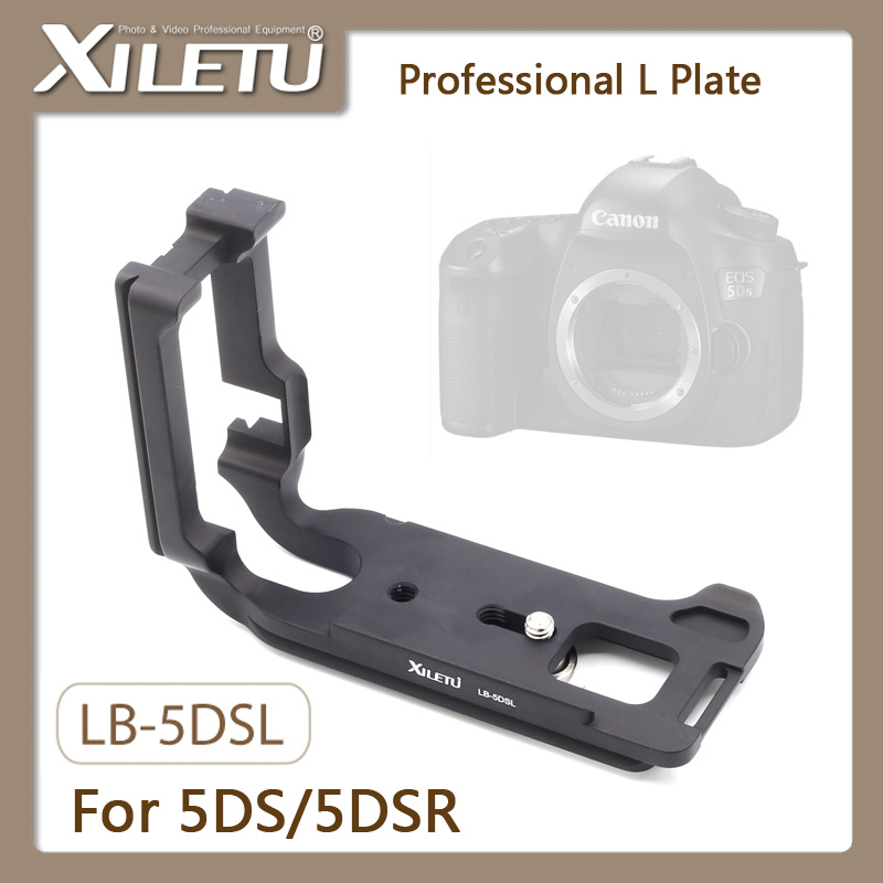 XILETU LB-5DSL Professional Tripod Quick Release Plate For Canon EOS 5DS/5DS R Manfrotto Gitzo RRS BENRO Interface 38mm