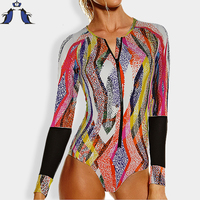 Swimsuit Women One Piece Swimsuit Long Sleeve Biquini Swimwear Women Sexy One Piece Swimwear One Piece