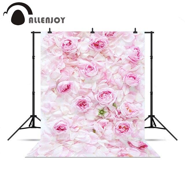 Allenjoy Photo background Pink rose wedding love baby shower fresh professional professional camera Vinyl background pictures