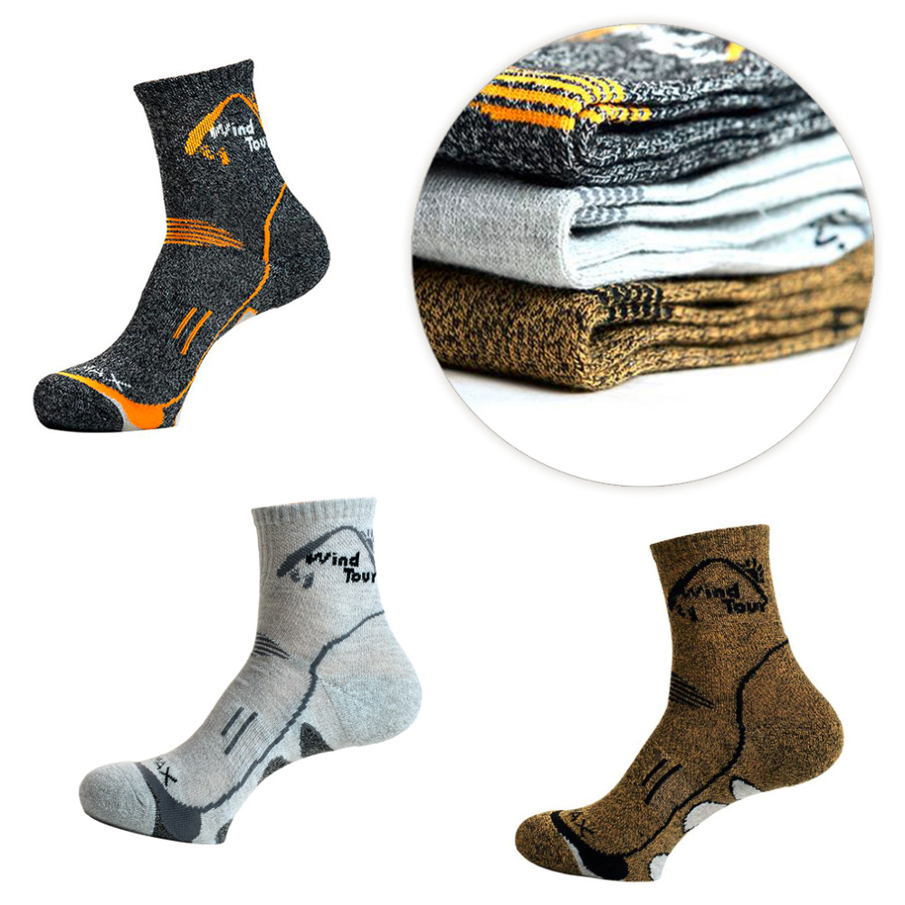 1 pair Breathable Sports Socks Anti-beriberi Cotton Hiking Athletic Socks Thermal Running Winter Warm Wicking Sport Outdoor Sock