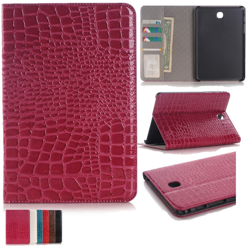 Case For Samsung Galaxy Tab A 8.0 Case SM-T350 Case / T351 /T355/ P350 /P355 Crocodile Luxury PU Leather Tablet Case 8.0 Inch