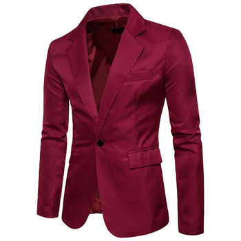 Stylish Men Blazer Lapel Casual Slim Fit Formal One Button Suit Single Button 2018 New Fashion Blazer Coat Jacket Top Blazer фото