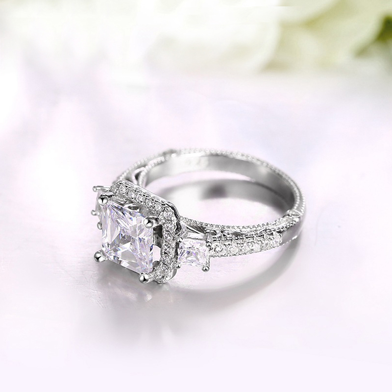 engagement square rings stone center diamond top princess wedding cut with ring designs