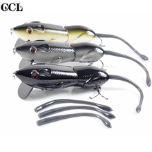 Hard Plastic Jointed Fishing Mouse Lures for Carbon Fiber Bill Soft tails Mice Bait Crank Minnow Tackle