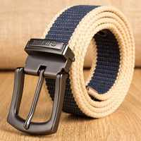 Outdoor Military Tactical Long Belt Men Canvas Belts for Jeans Male Casual Metal Pin Detachable Buckle Straps Belt Ceintures